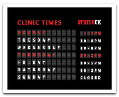 Clinic open times