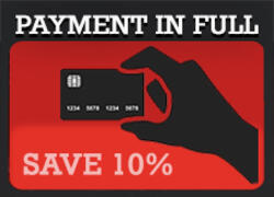 Pay upfront save 10%
